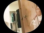Sexy nackte Mädchen mit geilen Arsch auf versteckte Kamera gefilmt