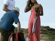 Naked Fotoshooting mit hot girl