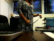 Sekretär nackt im Büro Live-Streaming