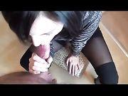 Blowjob und Sperma im Mund