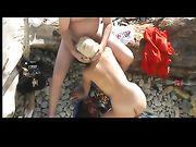 Porno am Strand mit einem Amateurpaar