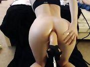 Sex im Arsch mit einer Dildomaschine